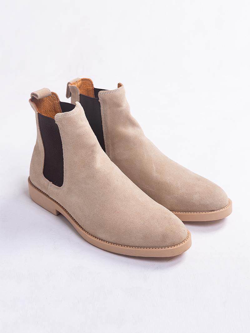Giày Chelsea Boot Da Lộn Màu Xám G217
