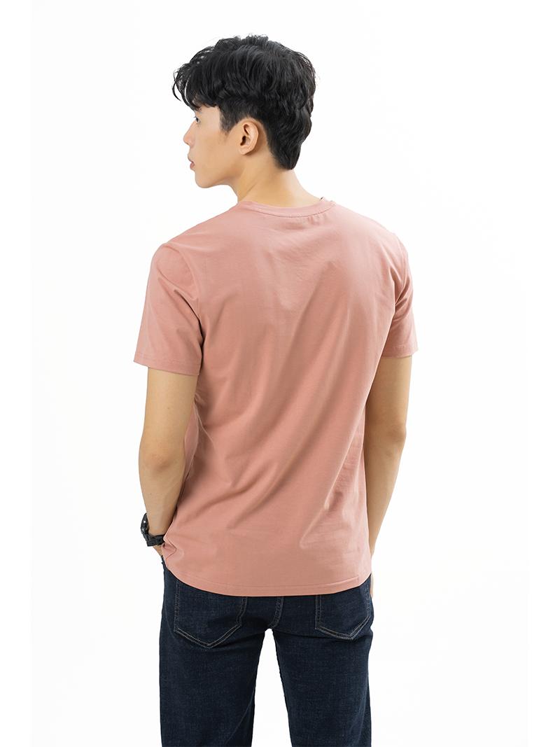 Áo Thun Trơn Căn Bản Form Slimfit AT018 Màu Hồng