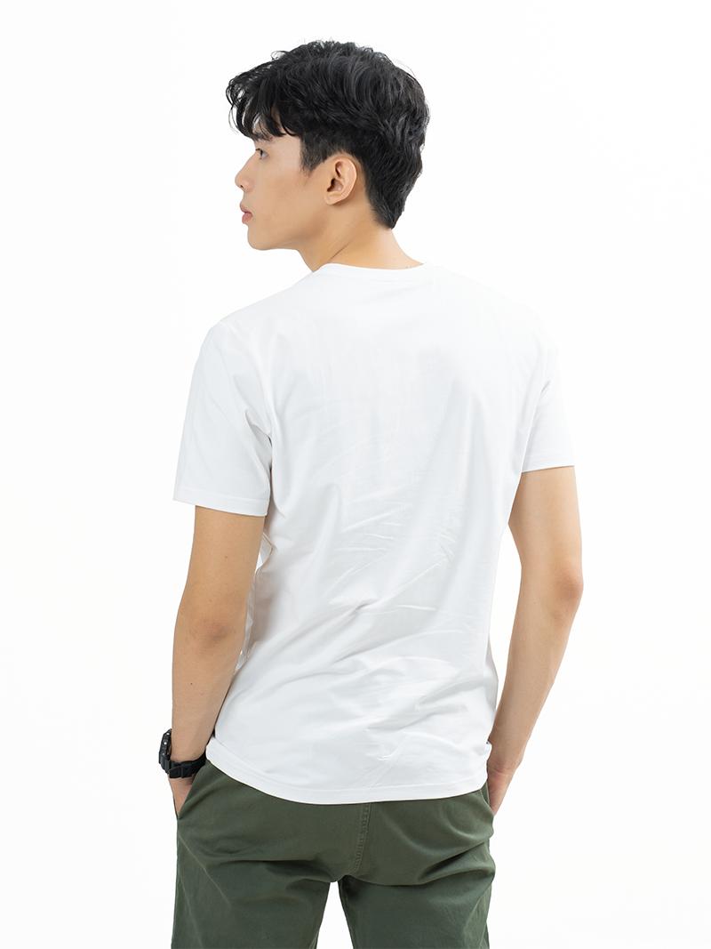 Áo Thun Trơn Căn Bản Form Slimfit AT018 Màu Trắng