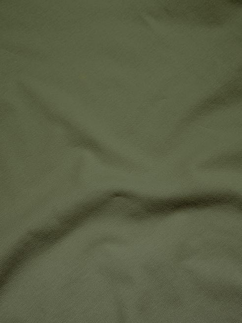 Áo Thun Gắn Nhãn Mặt Cười Màu Rêu AT049