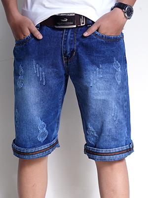 Quần Short Jeans Xanh Dương Đậm QS24