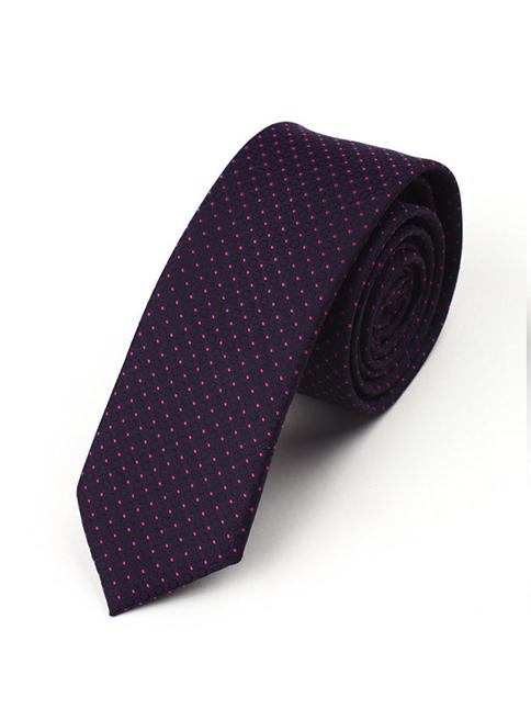 Cà Vạt Hàn Quốc Chấm Bi Tím CV09