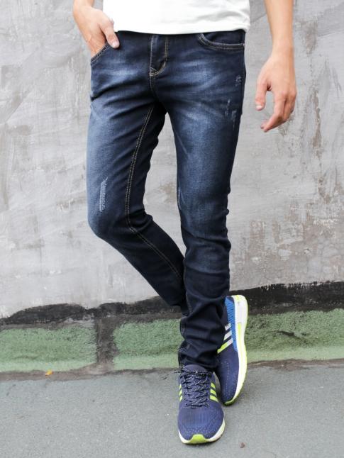 quan jean skinny xanh den qj1292