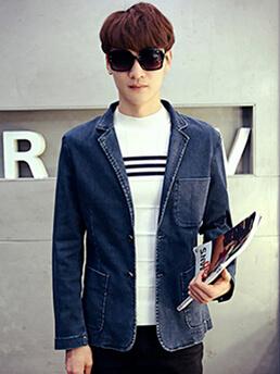 ao vest jean xanh den av1091