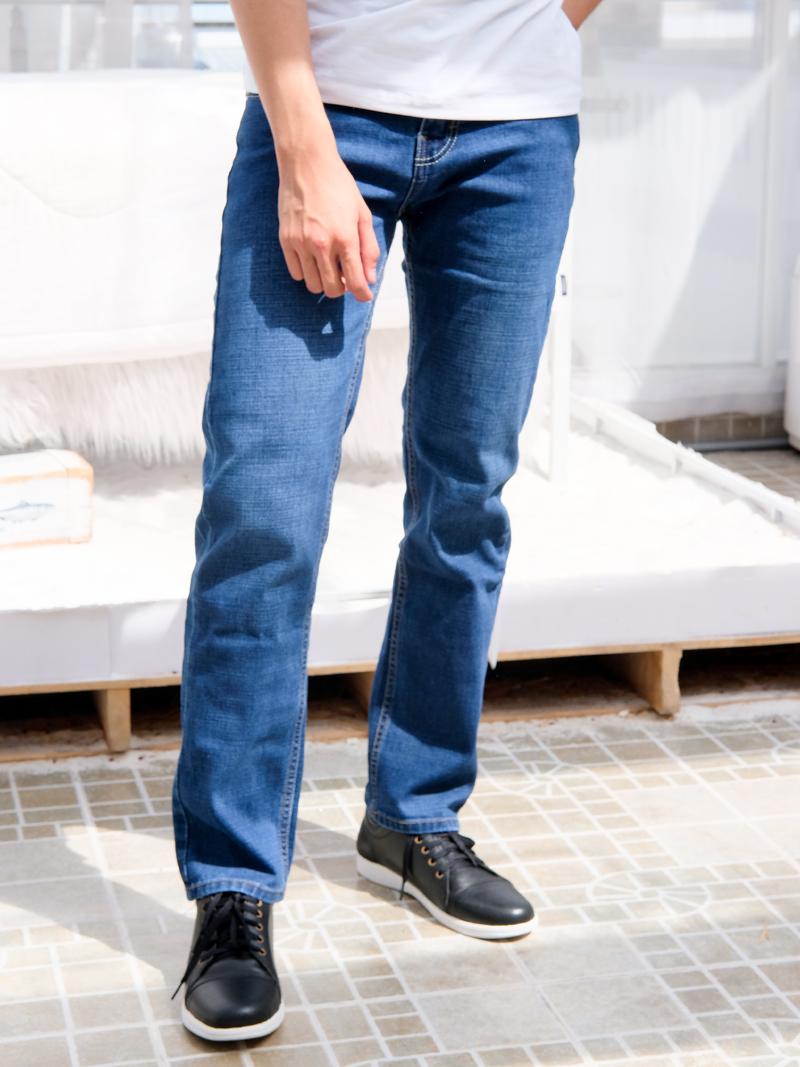 quan jeans ong dung xanh qj1595