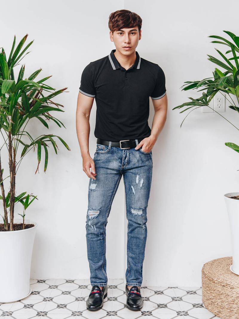 quan jeans rach xanh den qj1576