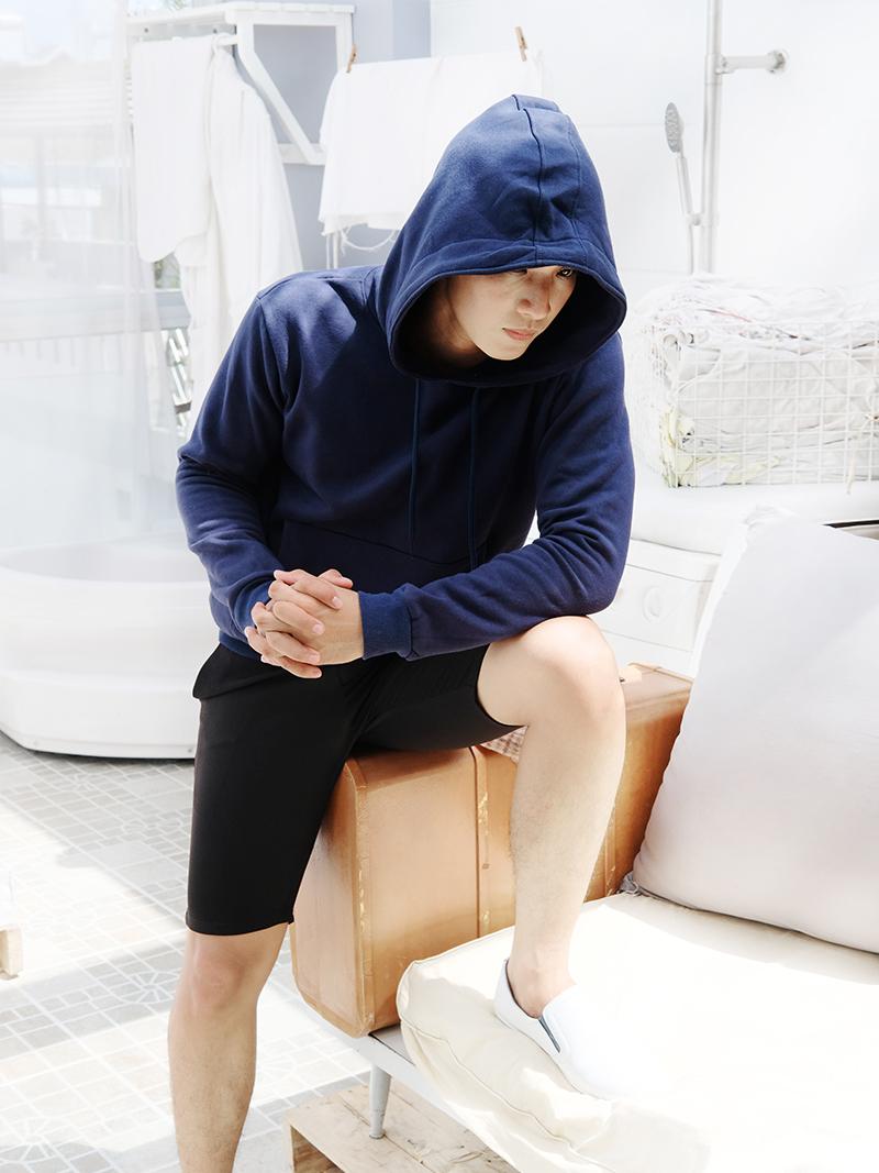 ao khoac hoodie xanh den ak242