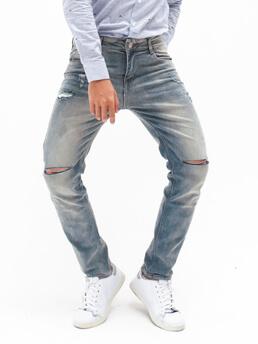 Quần Jeans Rách Xám QJ1603
