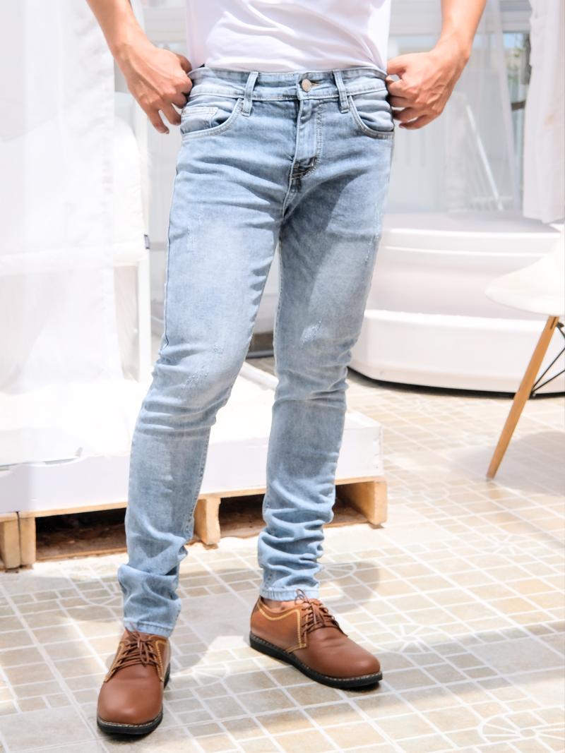 quan jeans skinny xam qj1601