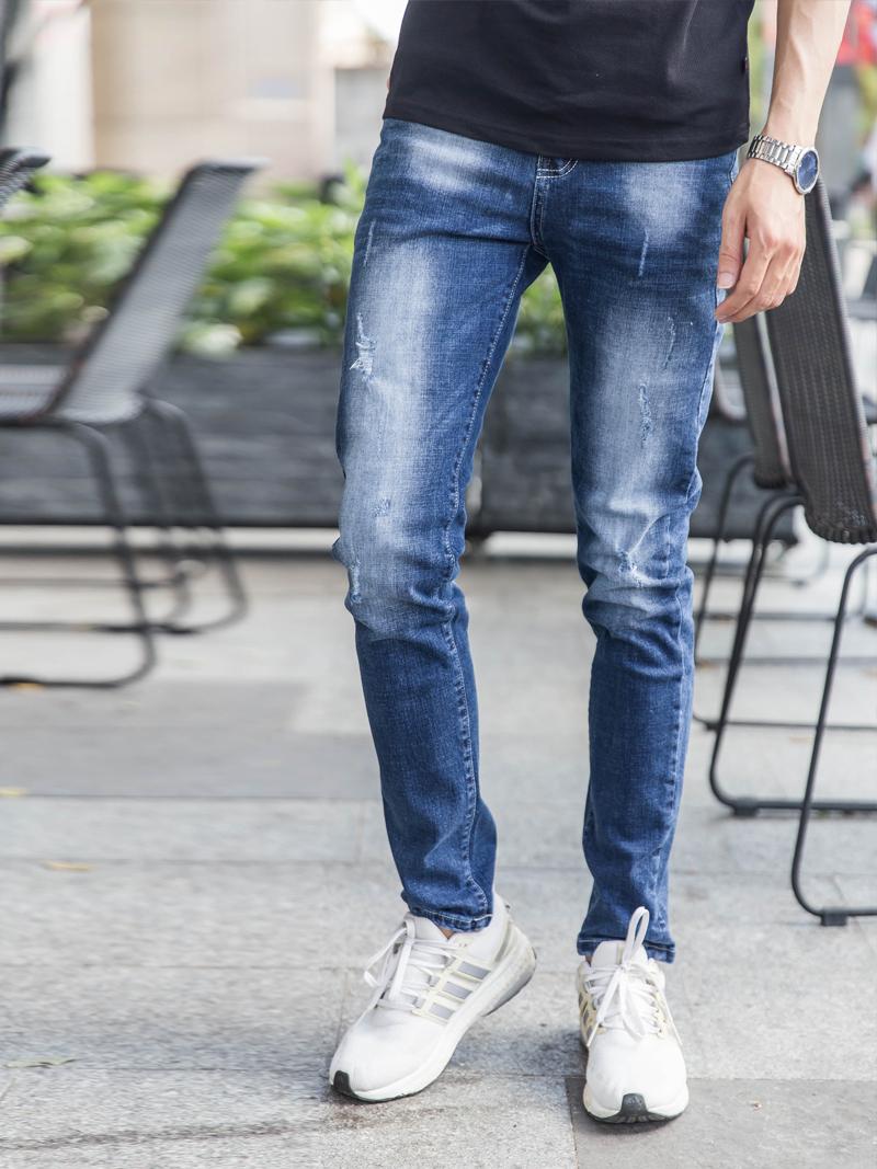 quan jeans rach xanh den qj1632