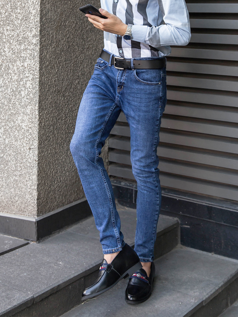 quan jeans skinny xanh den qj1621