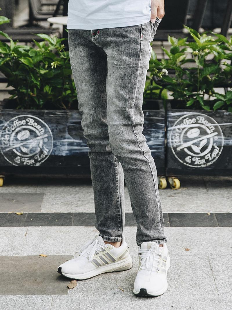 quan jeans slimfit xam chuot qj1629