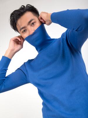 ao len xanh duong al119
