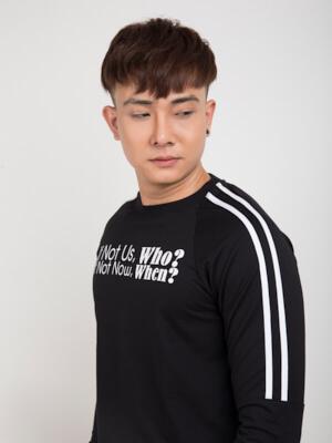 Áo Thun Tay Dài Đen AT810