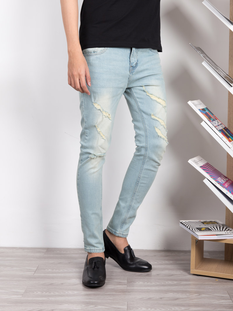 quan jeans rach xanh bien qj1635