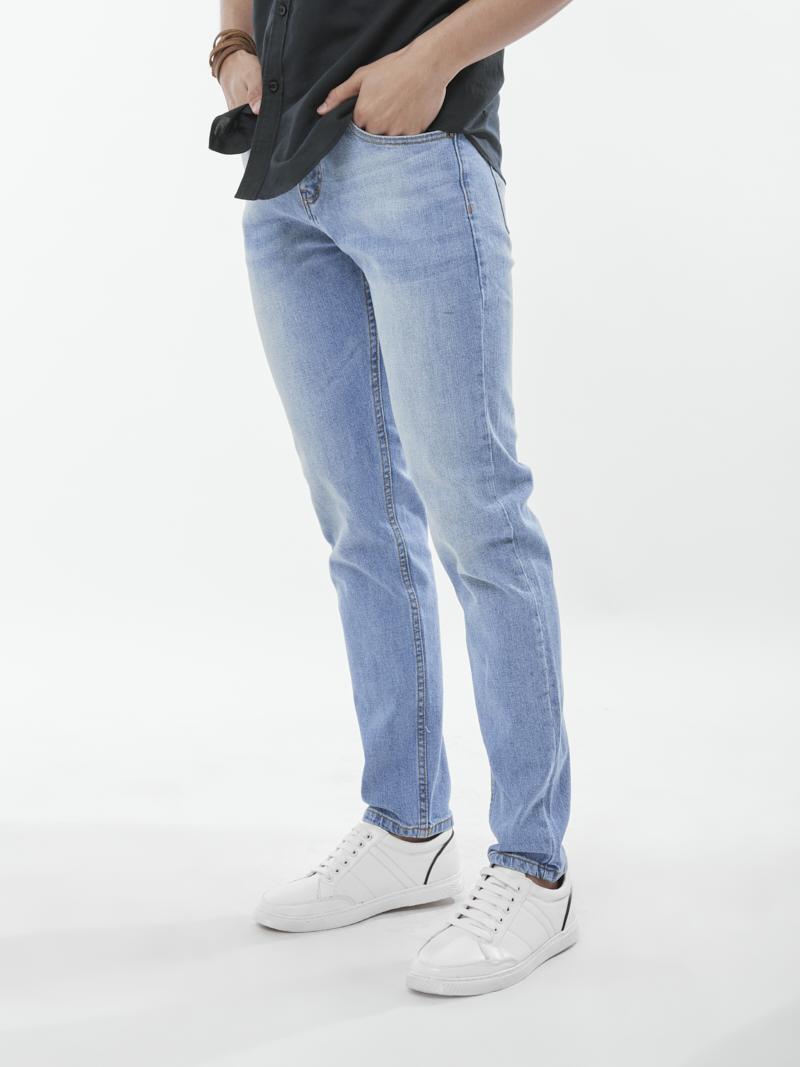 quan jeans ong dung xanh bien qj1644