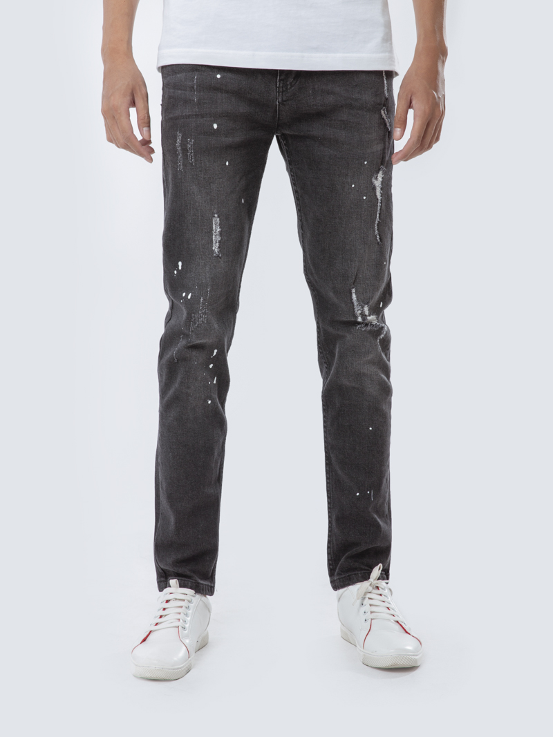 quan jean slim-fit xam qj1651