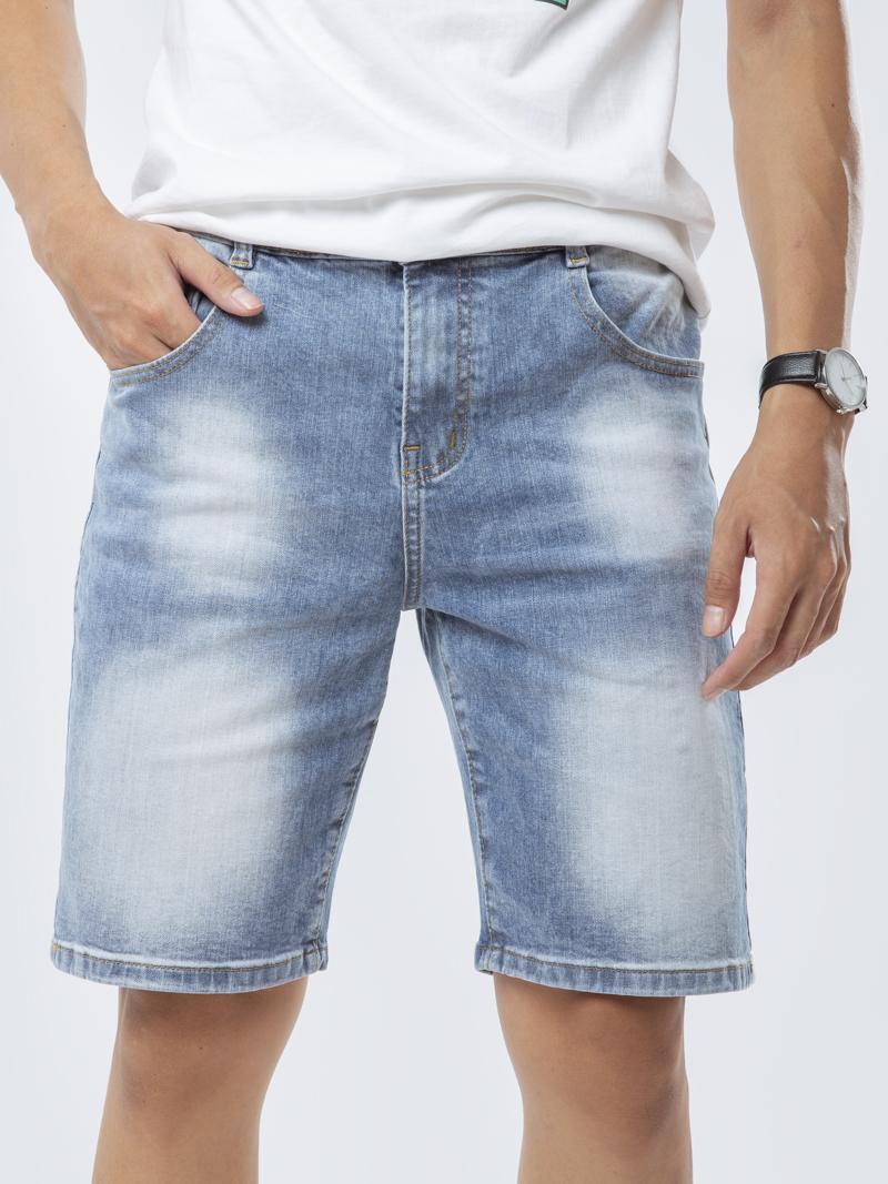 quan short jean regular bermuda xanh bien 195