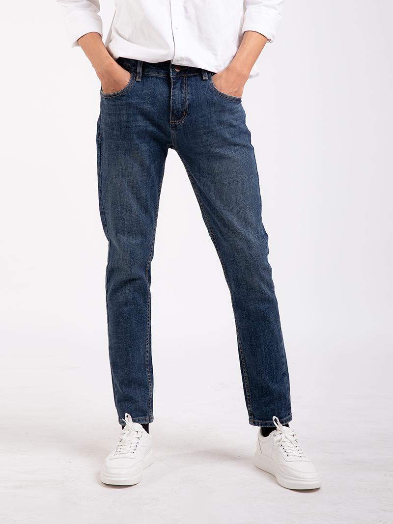 quan jean slimfit mau xanh bien qj1664