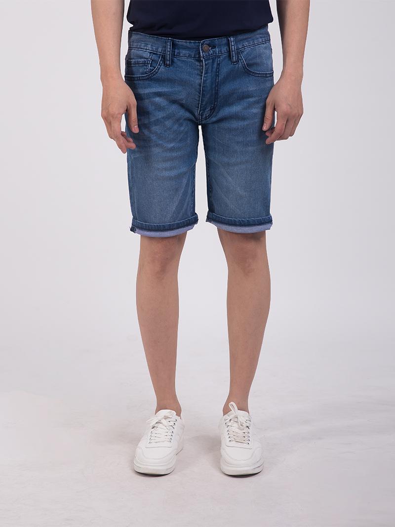 quan short jean slimfit mau xanh bien dam qs203