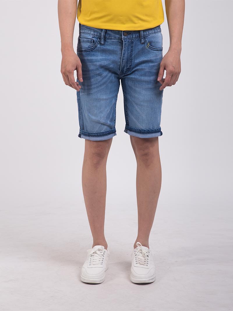 quan short jean slimfit mau xanh bien qs203