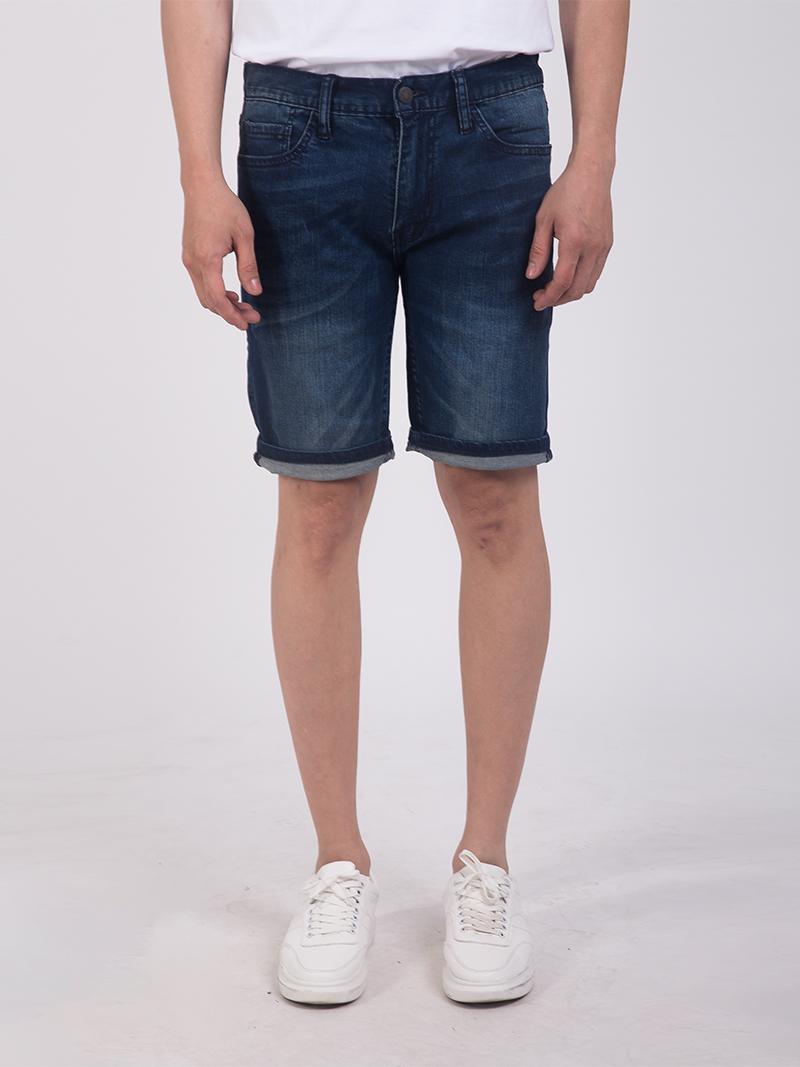 quan short jean slimfit mau xanh den qs203