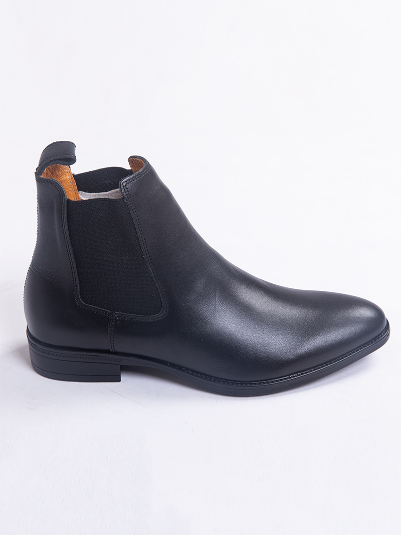 Giày Chelsea Boot Da Trơn Màu Đen G218