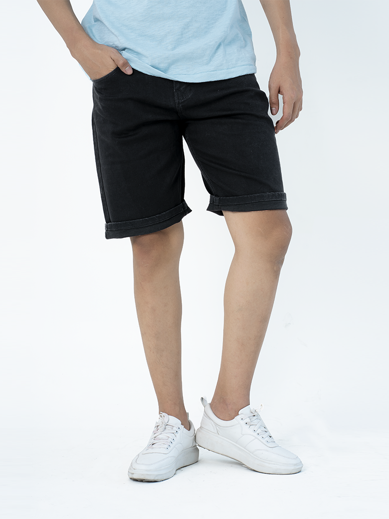quan short jean form regular qs001 mau den