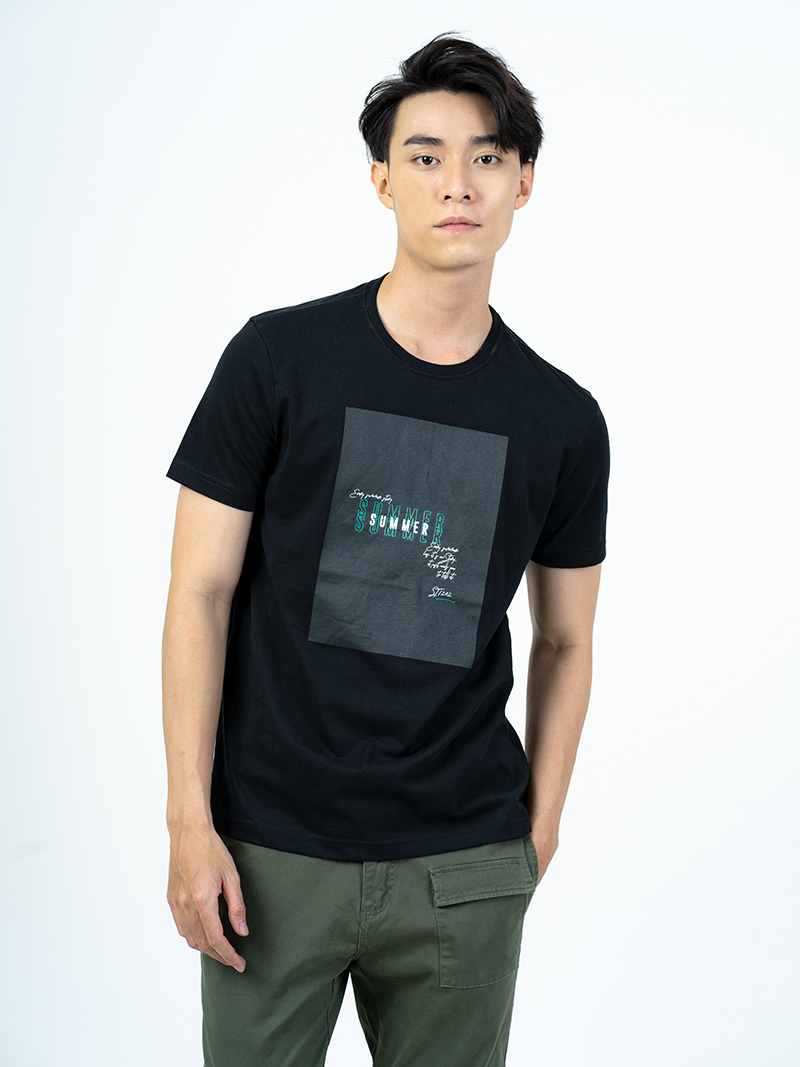 ao thun in summer form regular at006