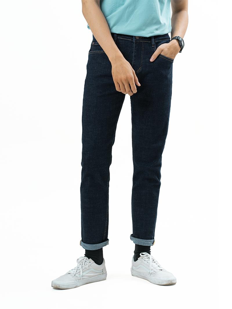 quan jeans can ban form slimfit qj006 mau xanh den