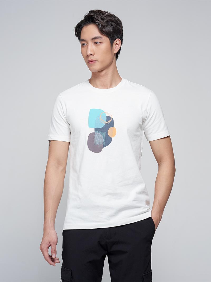 áo thun abstract shapes at033
