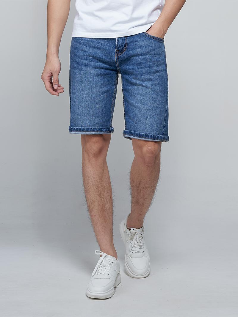 quàn shorts jeans qs007 mau xanh