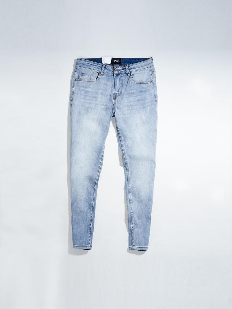 quàn jeans tron form regular qj019 mau xanh