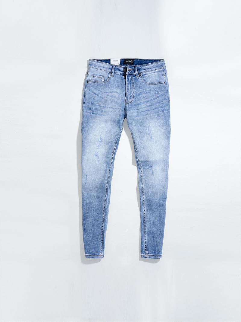 quàn jeans xuóc form regular qj018 mau xanh