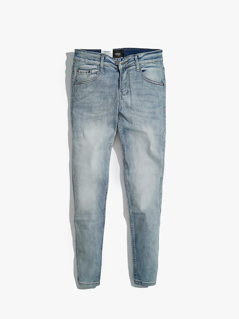 quàn jeans tron form slimfit qj017 mau xanh