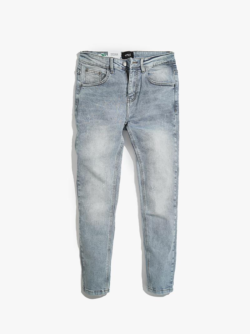 quàn jeans xuóc form slimfit qj009 mau xanh