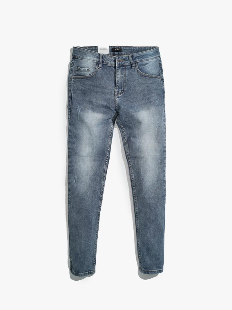 quàn jeans xuóc form slimfit qj010 mau xanh