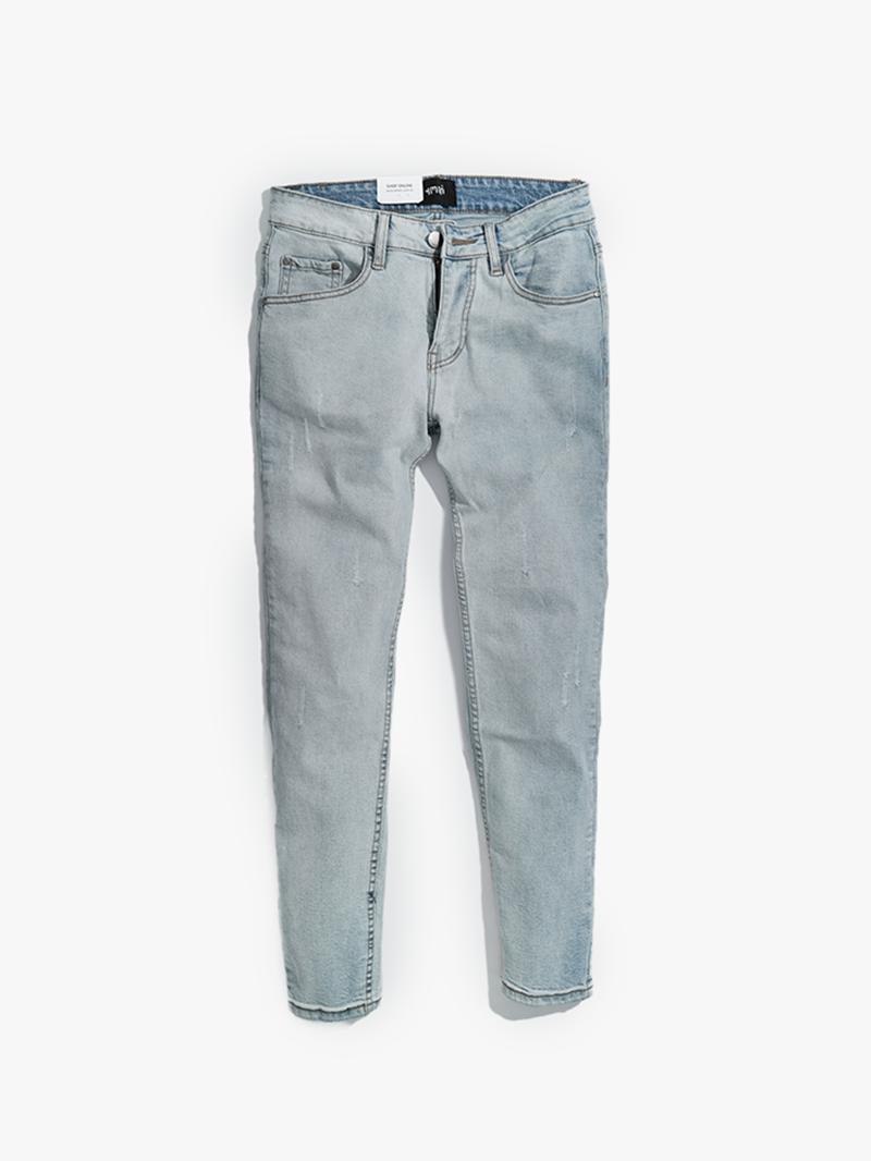 quàn jeans xuóc form slimfit qj012 mau bac