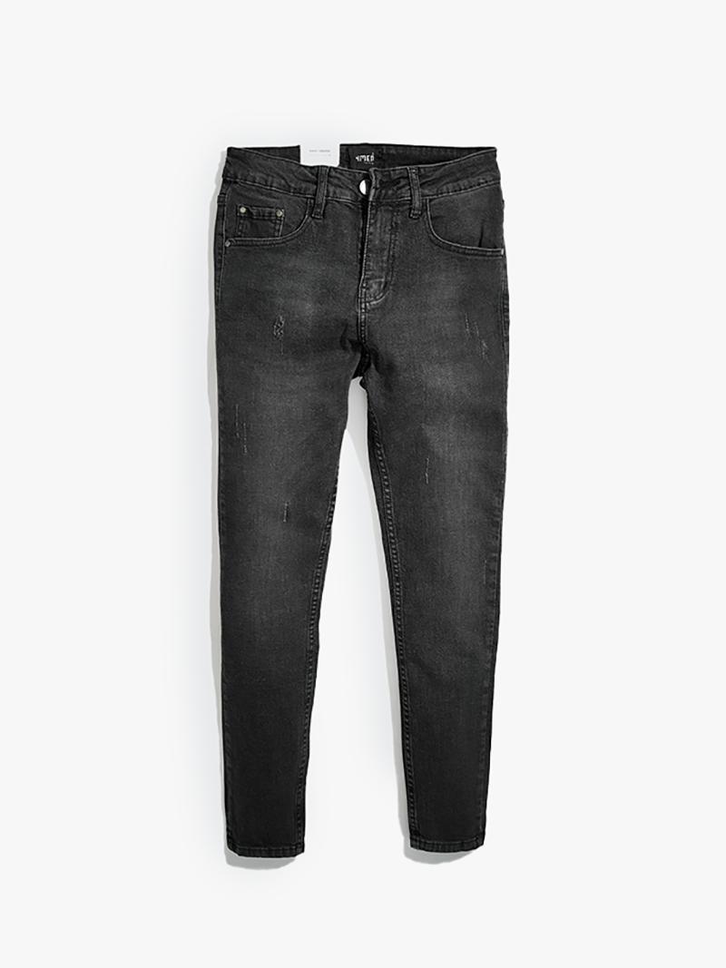 quàn jeans xuóc form slimfit qj013 mau xam chuot