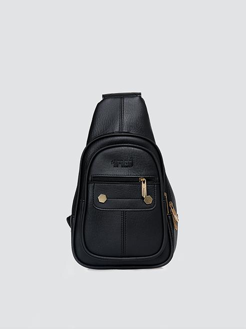 Túi đeo chéo dây kéo ngang ĐEN TX008